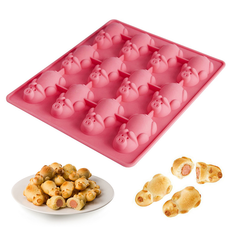 Pigs in a blanket, IceCube, CumCube, Cookie, Cake mold in little pig shapes