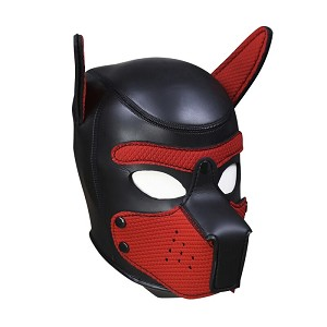K9 Fun - Padded Latex Dog Mask - Puppy - Full Head with Ears
